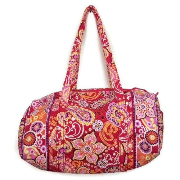 Vera Bradley Handbags - Vera Bradley Duffle Bag Medium Travel Tote EUC